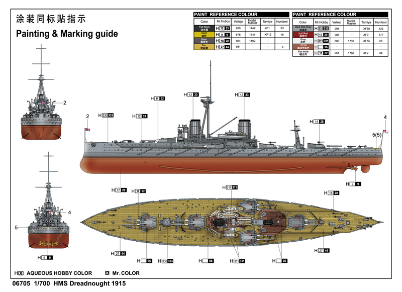 Hms Dreadnought 1915 06705 700 Series