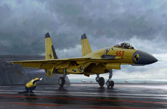 Chinese J-15 with flight deck 01670