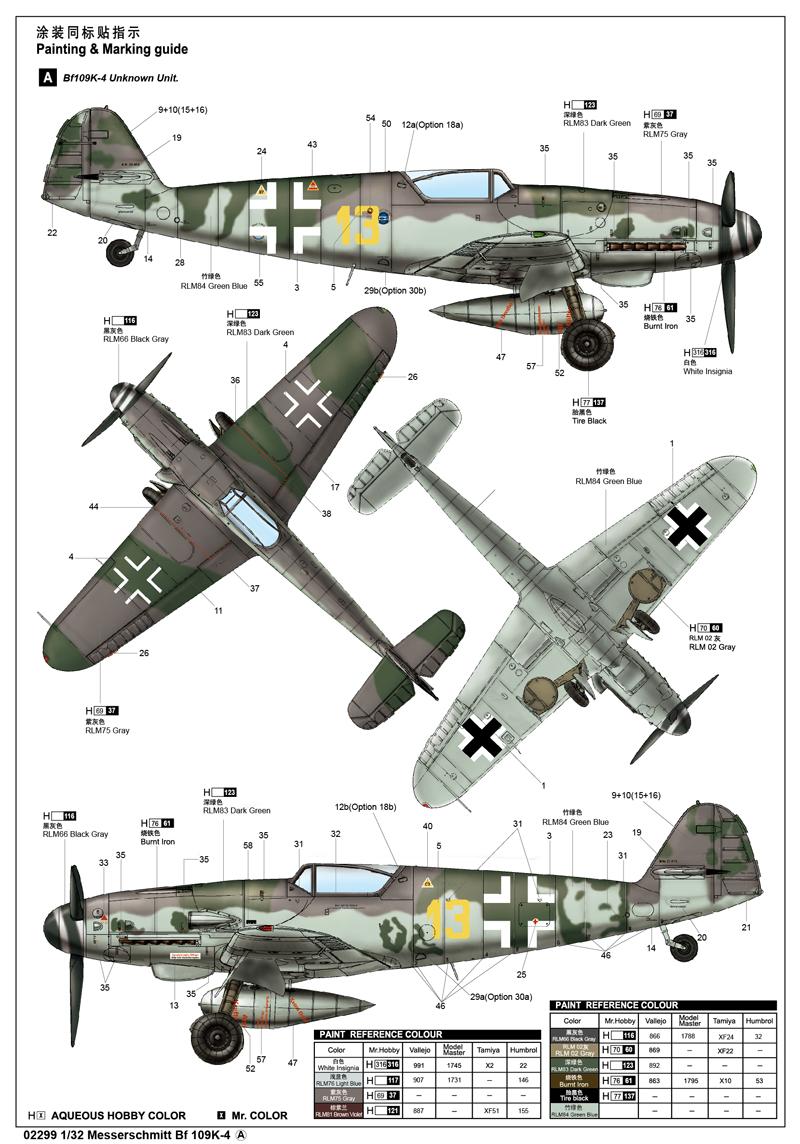Trumpeter 02299 1//32 Messerschmitt Bf109K-4
