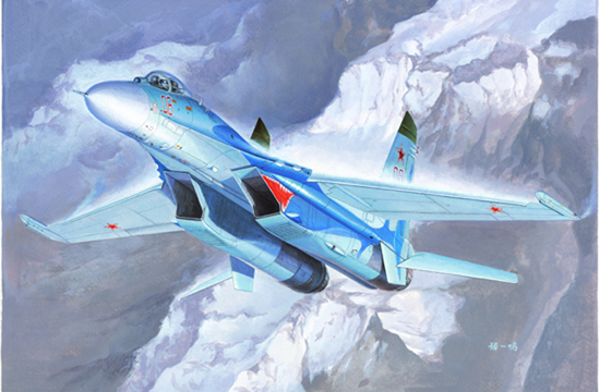Russian Su-27 Flanker B Fighter  01660
