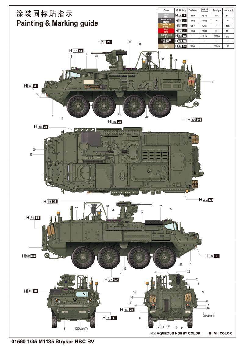 M1135 Stryker Nbc Rv 01560 1 35 Series Trumpeter(china)