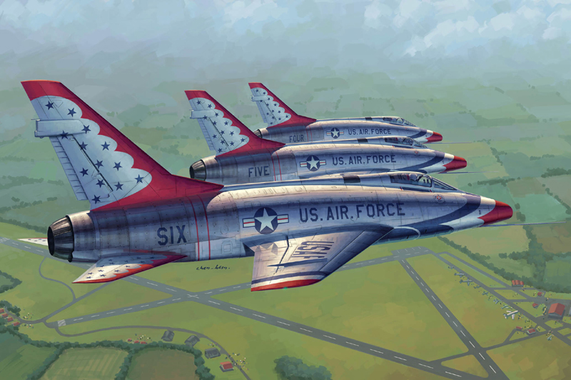 F-100D in Thunderbirds livery   02822