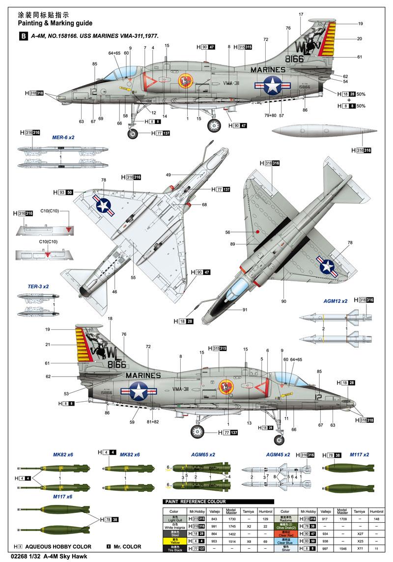 Trumpeter 02268 1//32 A-4M Skyhawk
