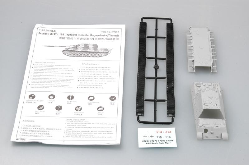 186 JagdTiger W//Zimmerit Trumpeter 1//72 07294 Germany Sd.Kfz