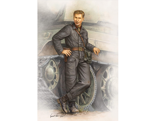 WWII Soviet Army Tank Crewman in 1942    00701