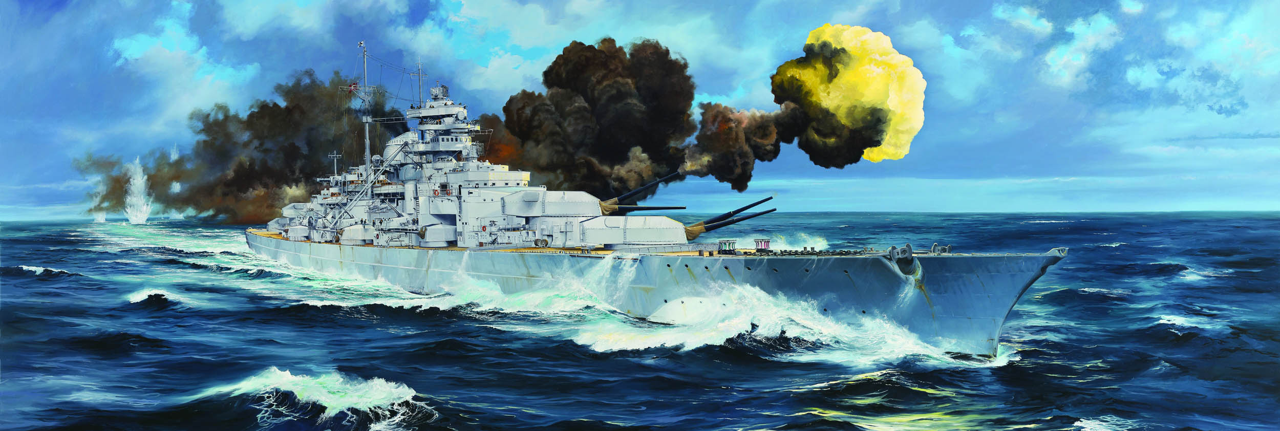 German Bismarck Battleship  03702
