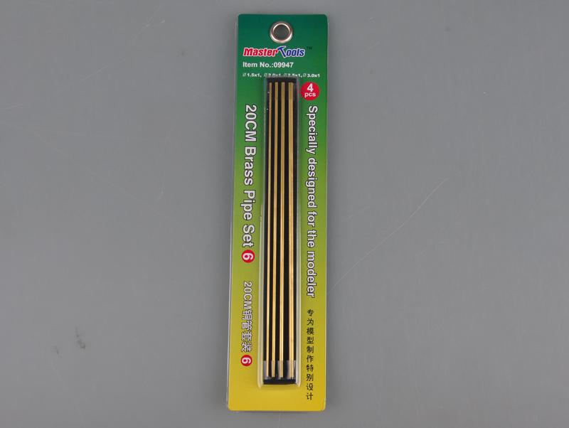 Grundpreis//1m = 4,73 EUR TRUMPETER® 09936 Messingrohre für Modellbau 4 x 20cm
