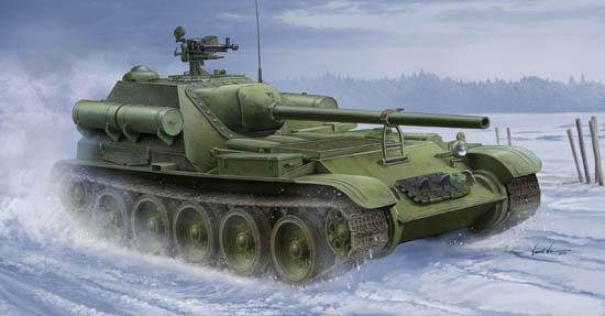 Soviet SU-102 SPA Tank Destroyer Panzerjäger in 1:35 Trumpeter 09570 Neu