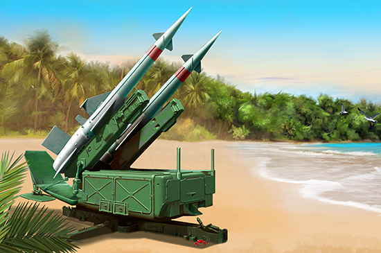 Soviet 5P71 Launcher with 5V27 Missile Pechora (SA-3B Goa) Rounds Loaded 02353
